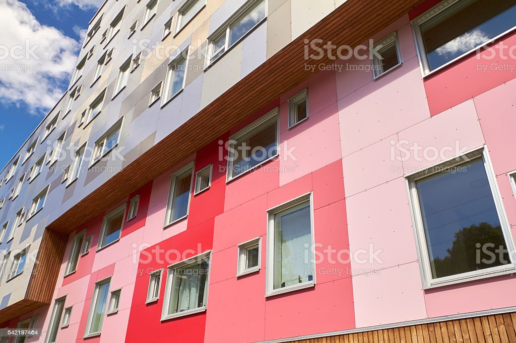 Modern appartement building stock photo