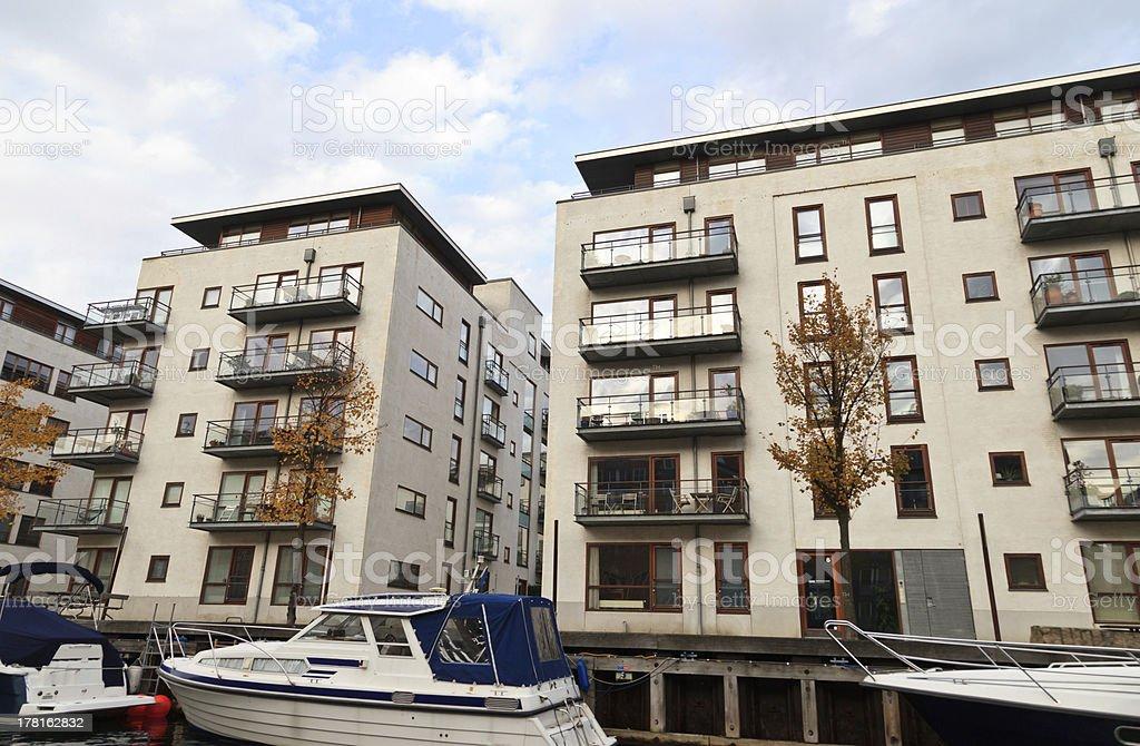 Modern appartments in Copenhagen royalty-free stock photo