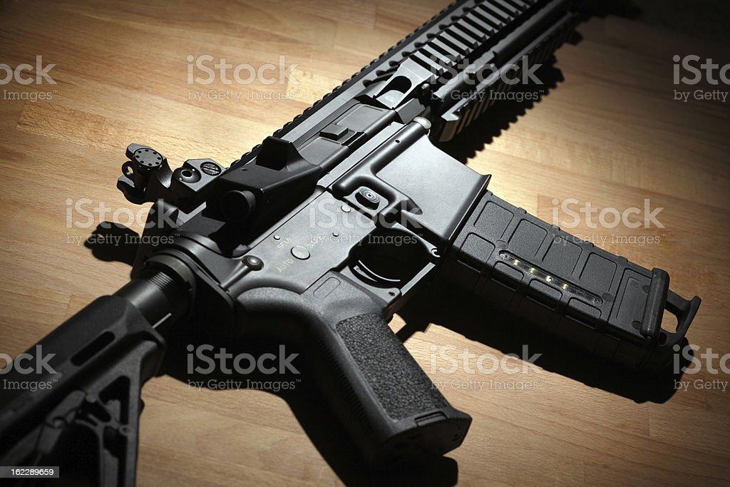 Modern AR-15 (M4A1) carbine stock photo