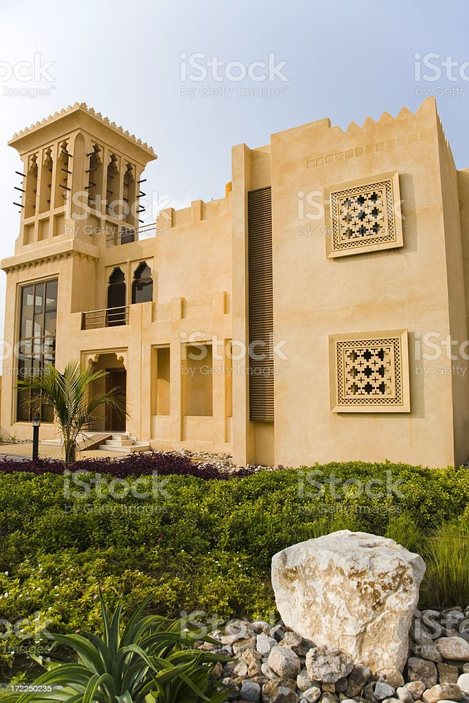 Modern Arabian Home Architecture royalty-free stock photo