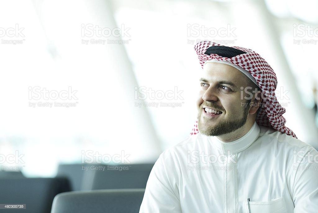 Modern Arabic businessman stock photo
