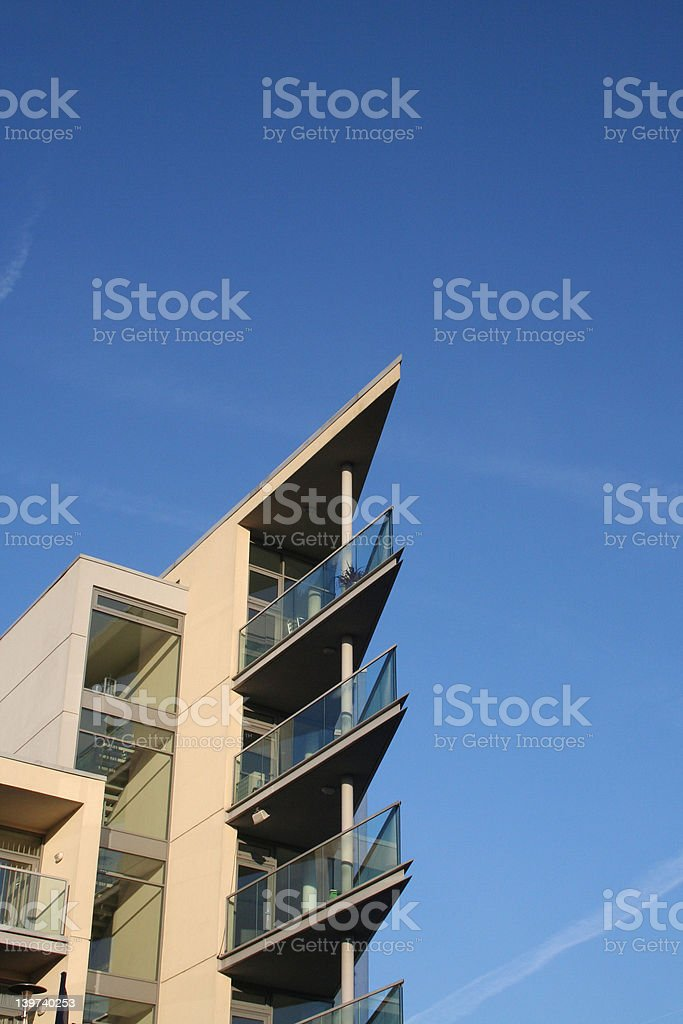 Modern architect designed apartments royalty-free stock photo