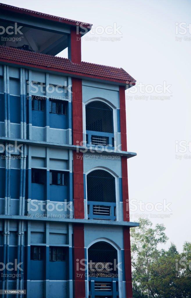 A modern architectural building unique photo stock photo