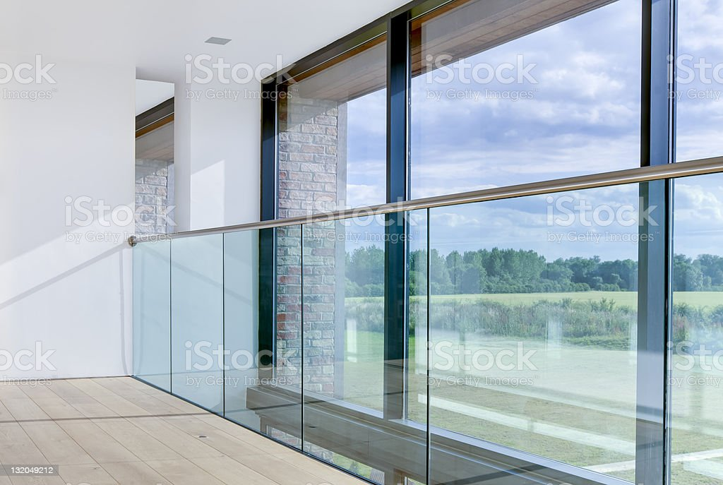 Modern architectural interior detail stock photo