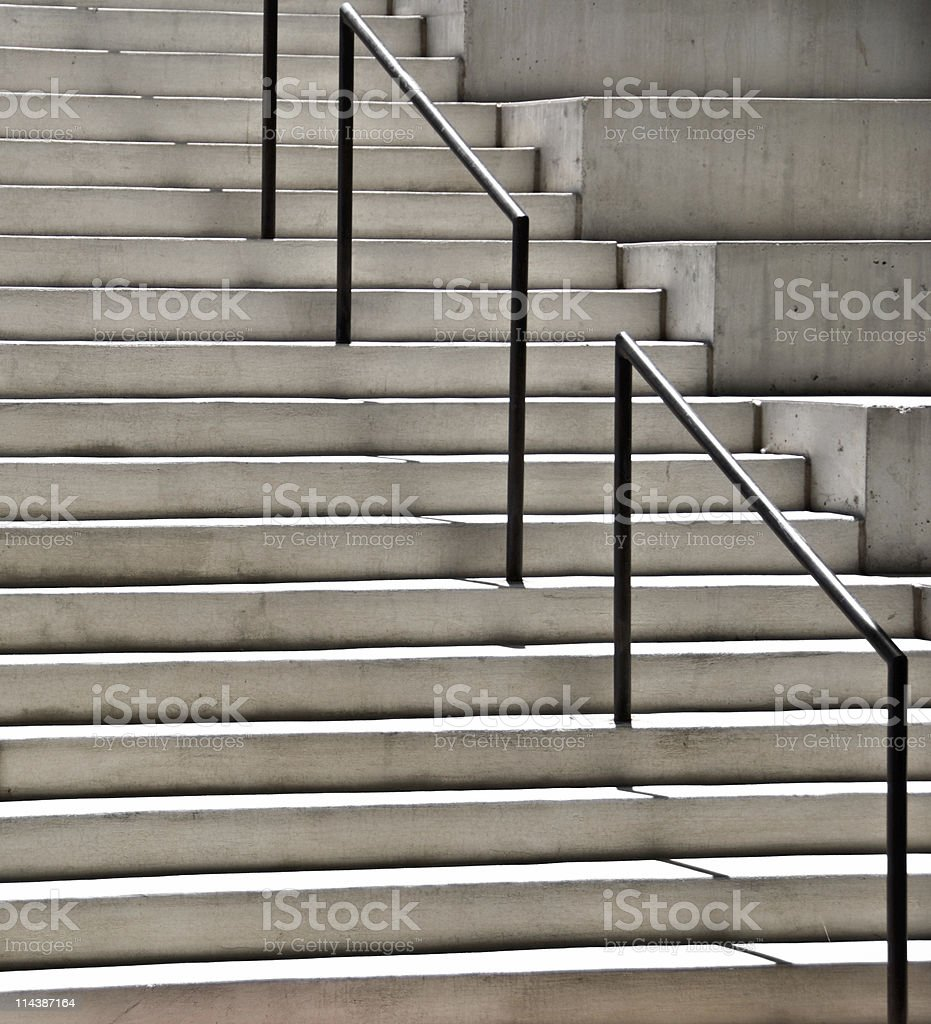 Modern Architectural Stairs And Stadium Seating, Cast Concrete Royalty Free  Stock Photo