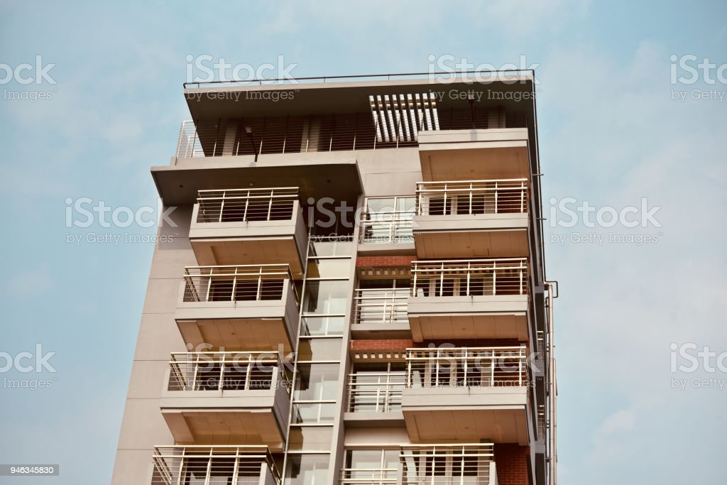 Modern architectural unique building isolated stock photograph stock photo