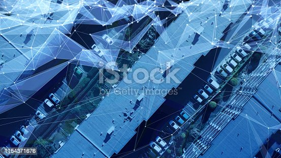 1129543866 istock photo Modern architecture and communication network concept. 1154371676