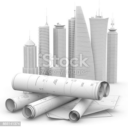 821915804 istock photo modern architecture and engineering concept 855141374