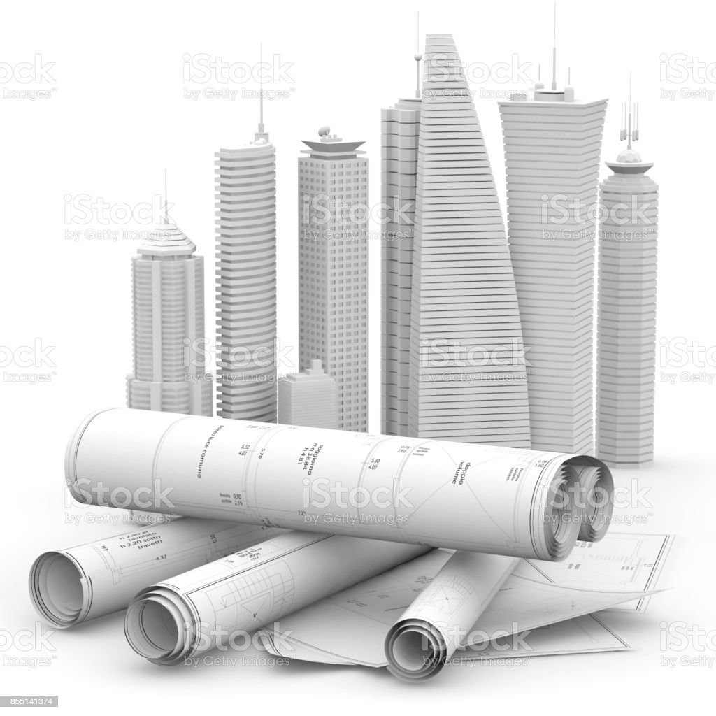 modern architecture and engineering concept stock photo