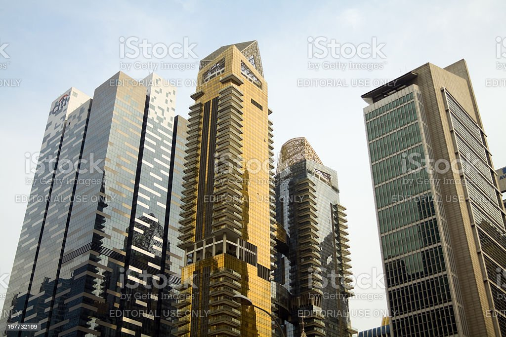 Modern architecture and skyline of Singapore stock photo