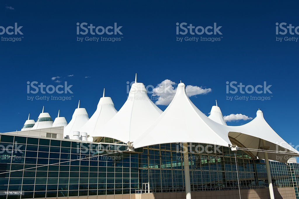 Modern architecture at Denver airport stock photo