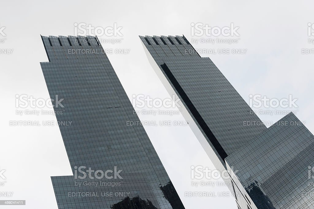 Modern Architecture at the Time Warner Center, New York City royalty-free stock photo