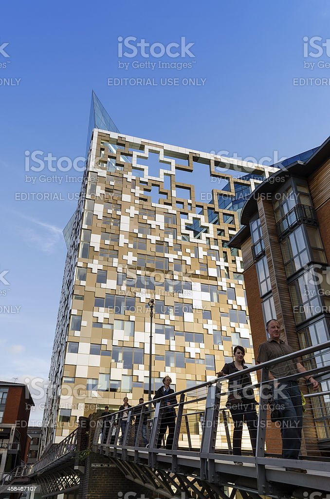 Modern architecture - Birmingham royalty-free stock photo