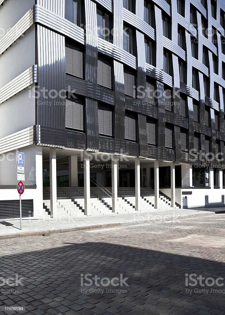 modern architecture, braided front, hamburg royalty-free stock photo