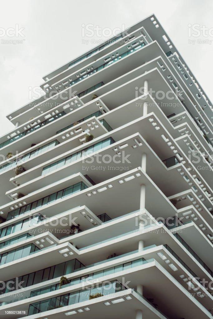 Arquitectura Moderna Del Edificio En Beirut Líbano Terrazas