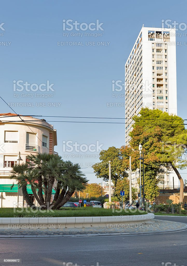 Modern Architecture Buildings In Rimini Italy Stock Photo