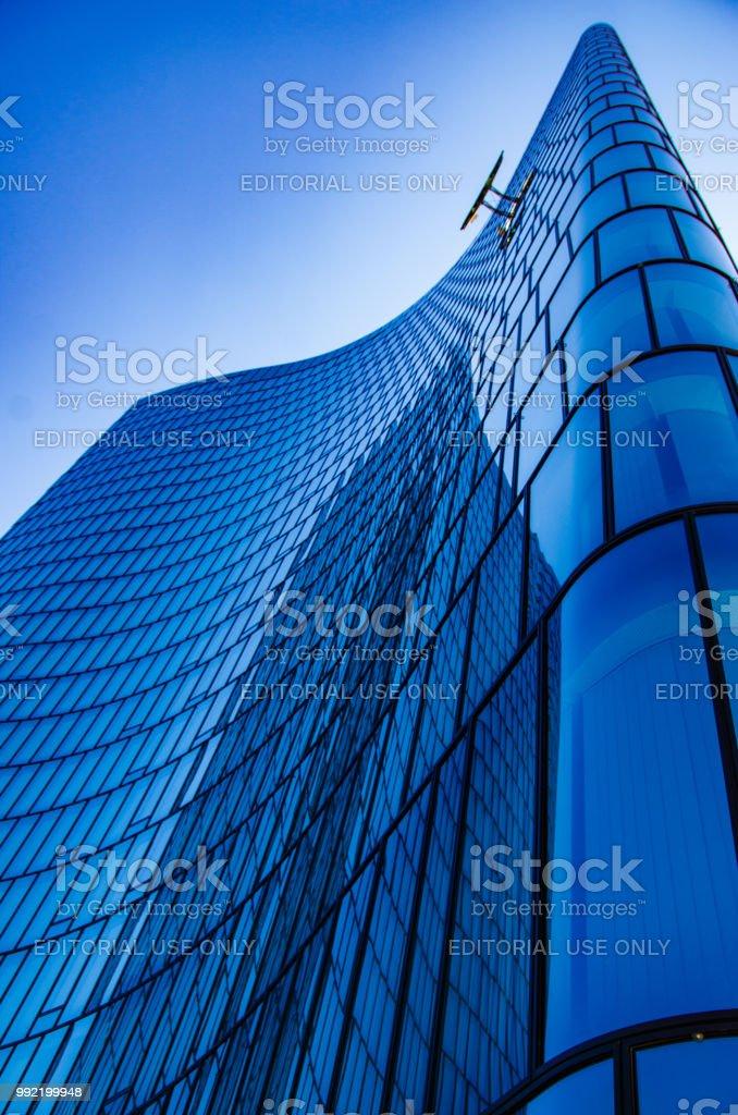 Moderne Architekturgebaude In Wien Osterreich Europa Metall Glas Und