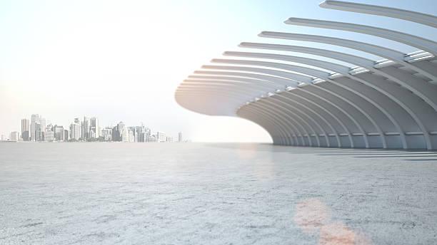 architecture moderne de fond de scène pour automobiles - show room photos et images de collection