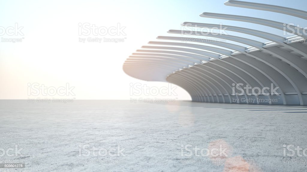 Modern architecture car stage background for automobiles stock photo