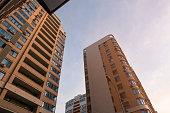 istock Modern architecture, common apartment buildings. 1327501128