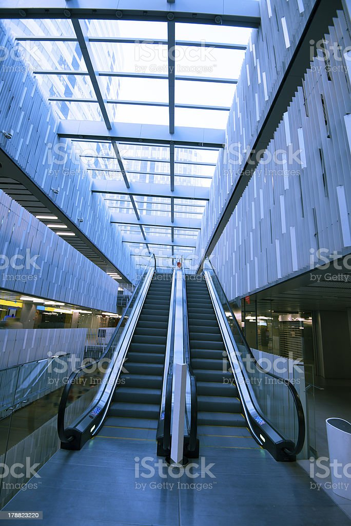 modern architecture corridor royalty-free stock photo
