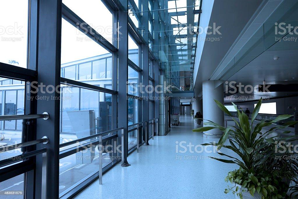modern architecture corridor stock photo