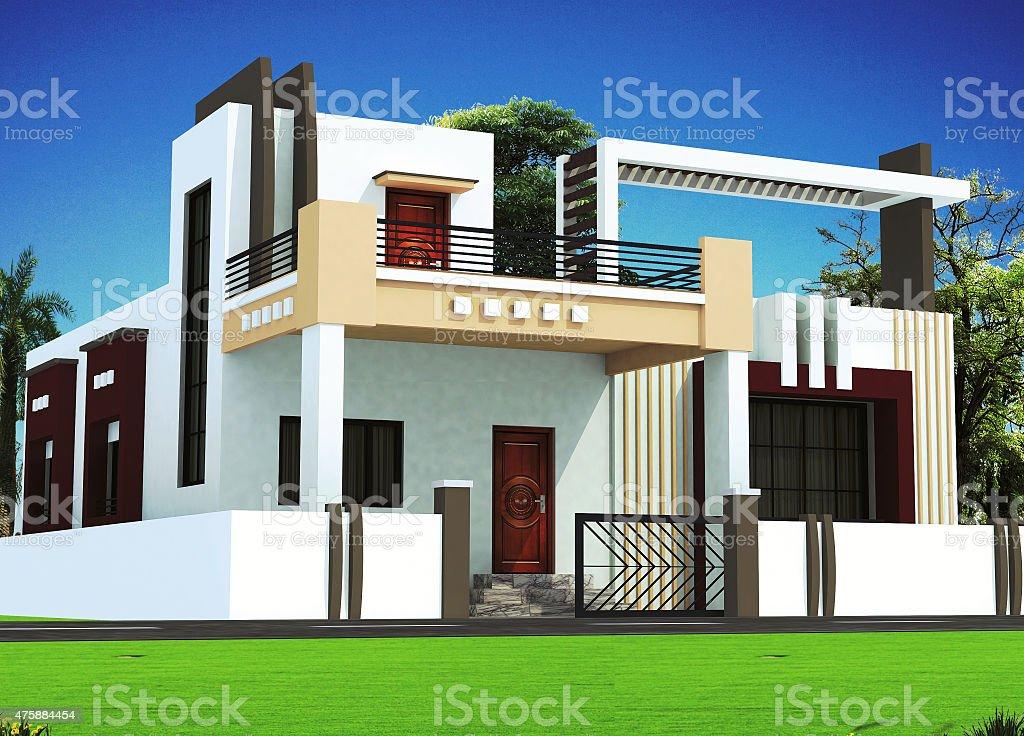 moderne architektur und design 73 fr housebungalow lizenzfreies stock foto