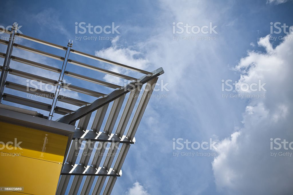 Modern architecture detail. stock photo