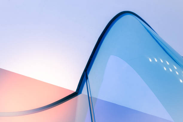Modern Architecture detail An modern architecture detail with curved glass structure. fluchtpunktperspektive stock pictures, royalty-free photos & images