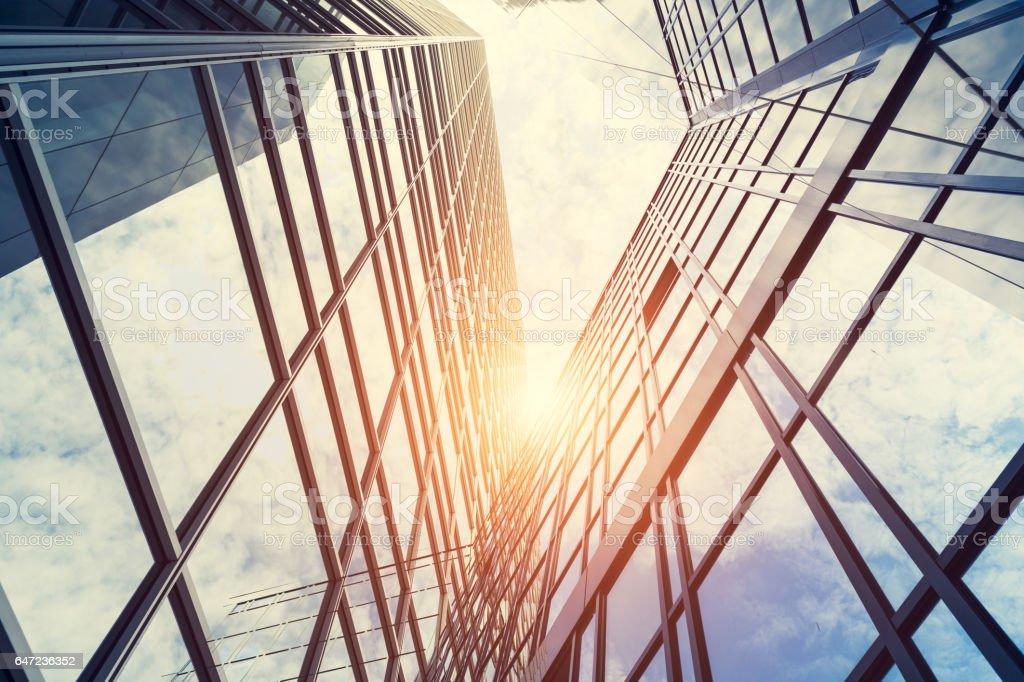 Moderne Architektur – Doppelbelichtung Lizenzfreies stock-foto