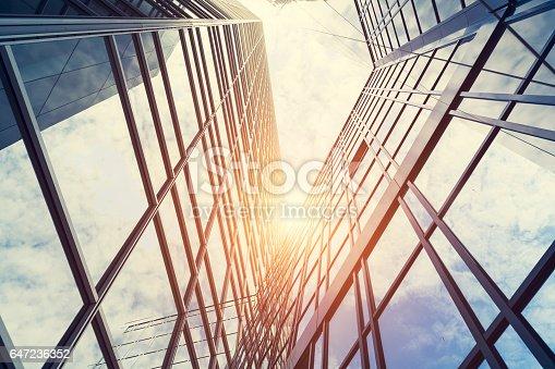 647236352 istock photo Modern architecture – double exposure 647236352