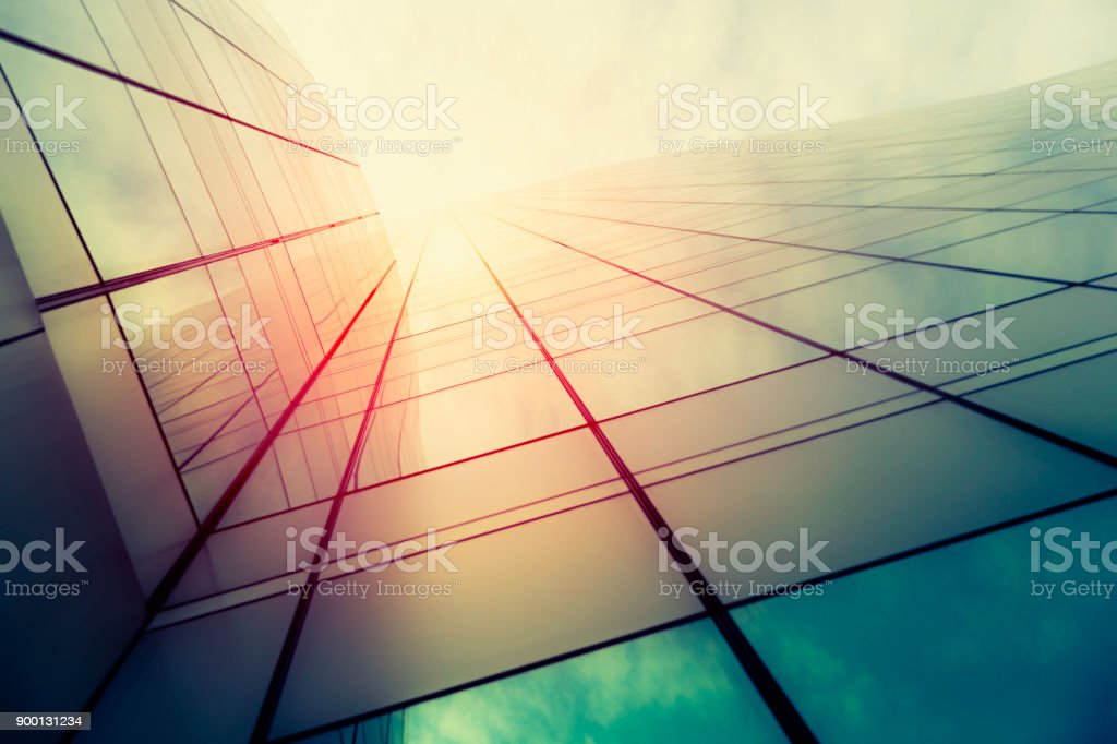 Modern architecture – double exposure royalty-free stock photo