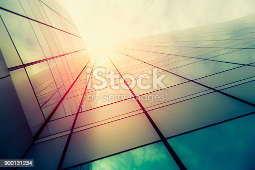 istock Modern architecture – double exposure 900131234