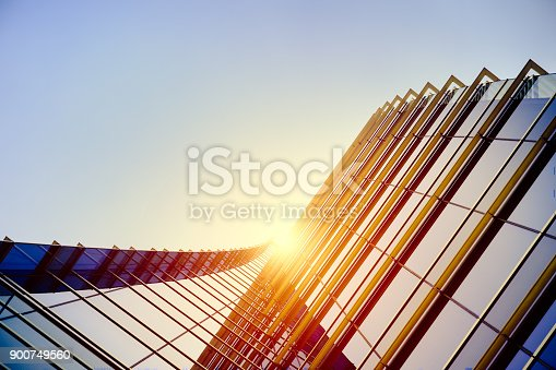 istock Modern architecture – double exposure 900749560