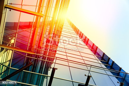 istock Modern architecture – double exposure 900749574