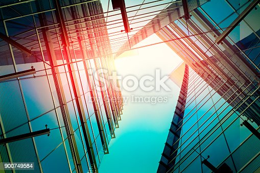 istock Modern architecture – double exposure 900749584
