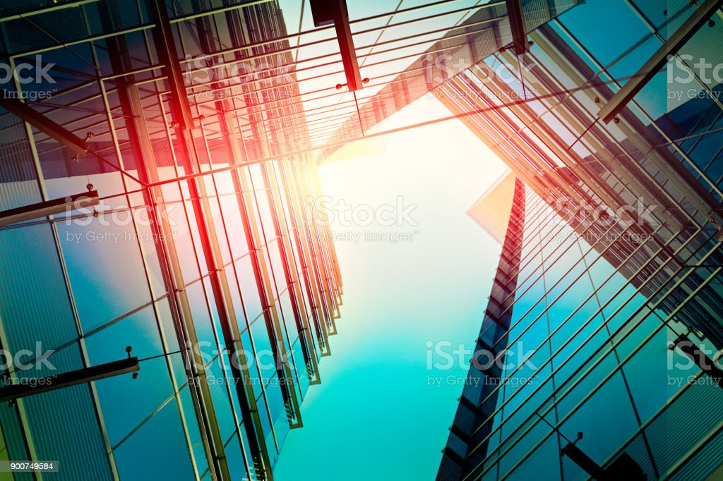 Modern architecture – double exposure - foto stock