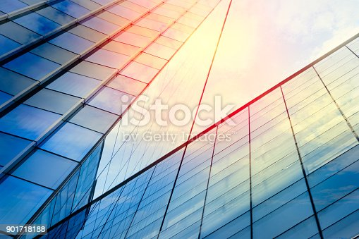 istock Modern architecture – double exposure 901718188