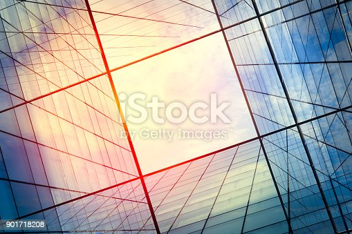 istock Modern architecture – double exposure 901718208