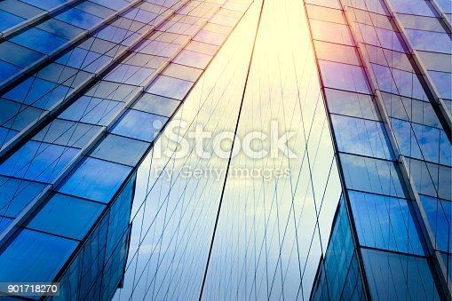 istock Modern architecture – double exposure 901718270