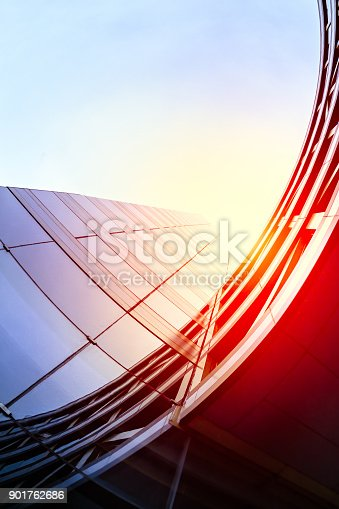 istock Modern architecture – double exposure 901762686