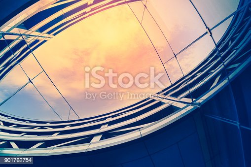 istock Modern architecture – double exposure 901762754
