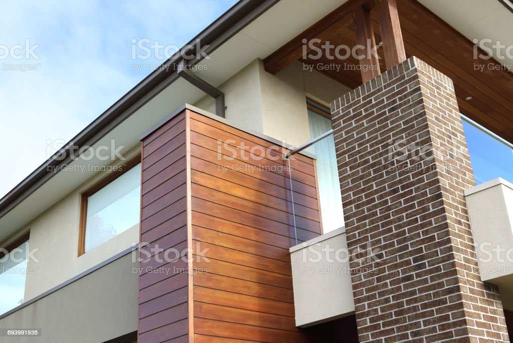 Modern architecture exterior details closeup stock photo