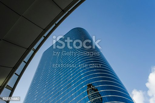 istock Modern architecture glass Enron Chevron building at 1400 Smith Street 623374682
