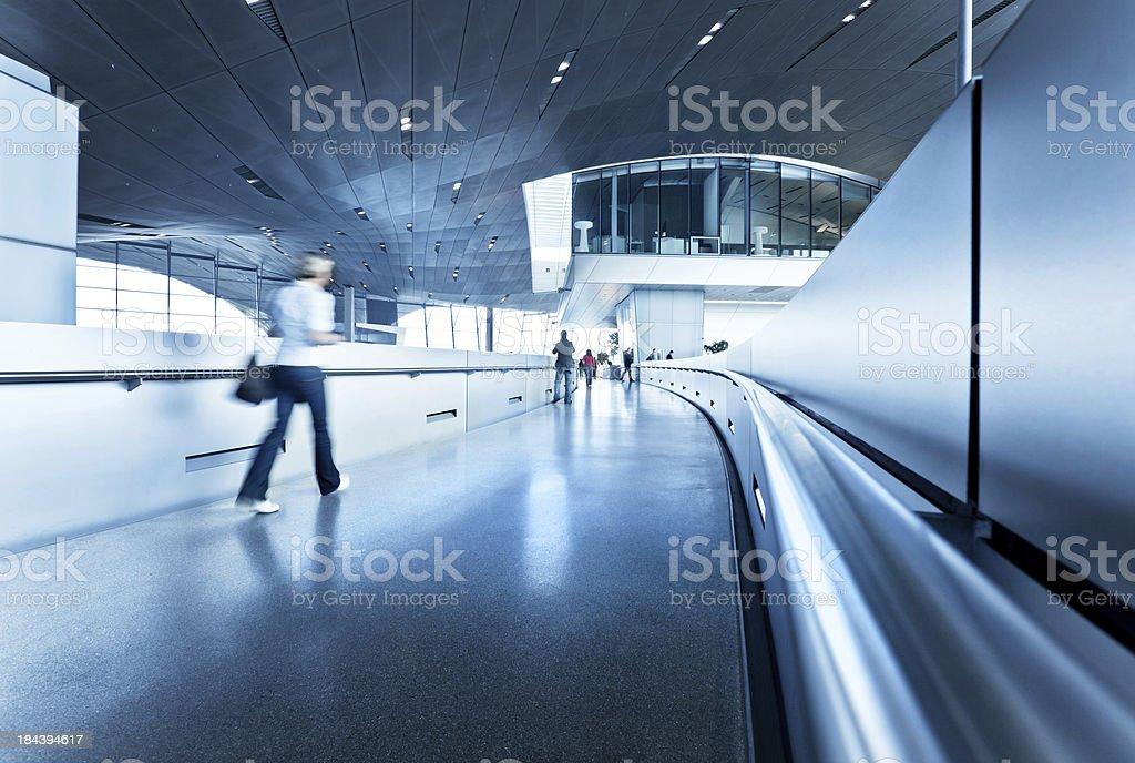 modern architecture hall stock photo