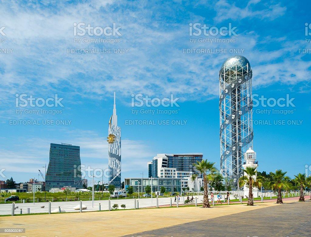 Modern architecture in Batumi stock photo