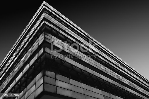 639291528istockphoto Modern Architecture in Black and White 859100706