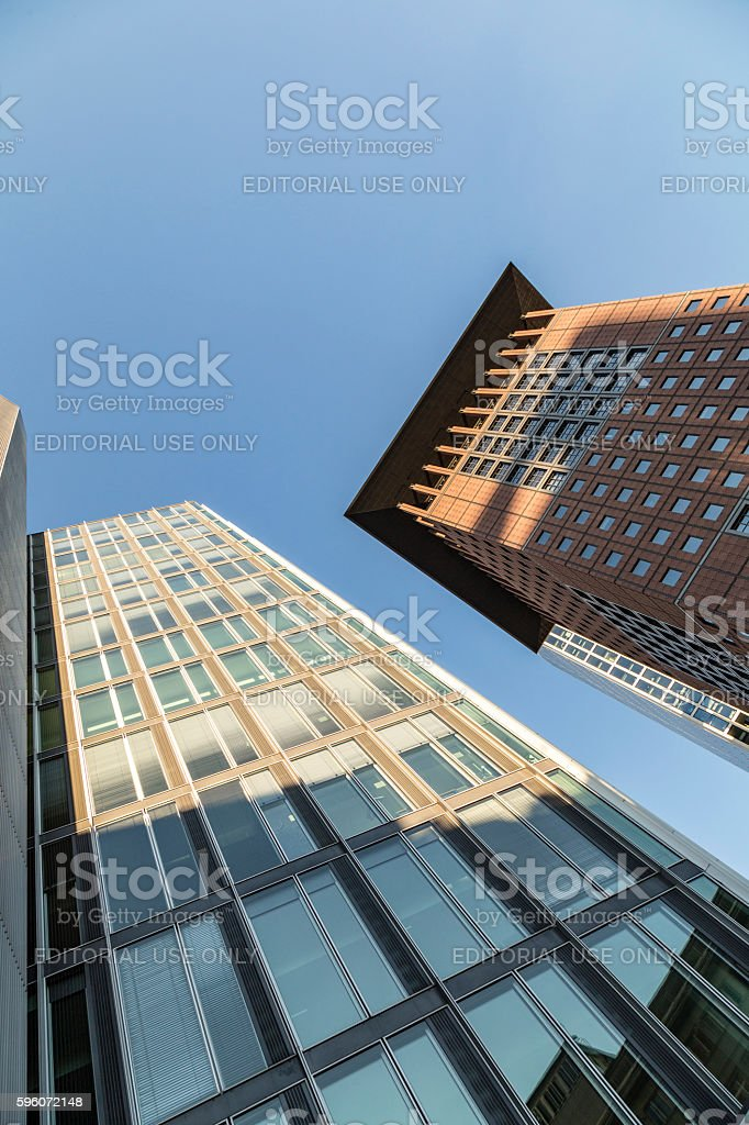 modern architecture in Frankfurt am Main with skyscrapers royalty-free stock photo
