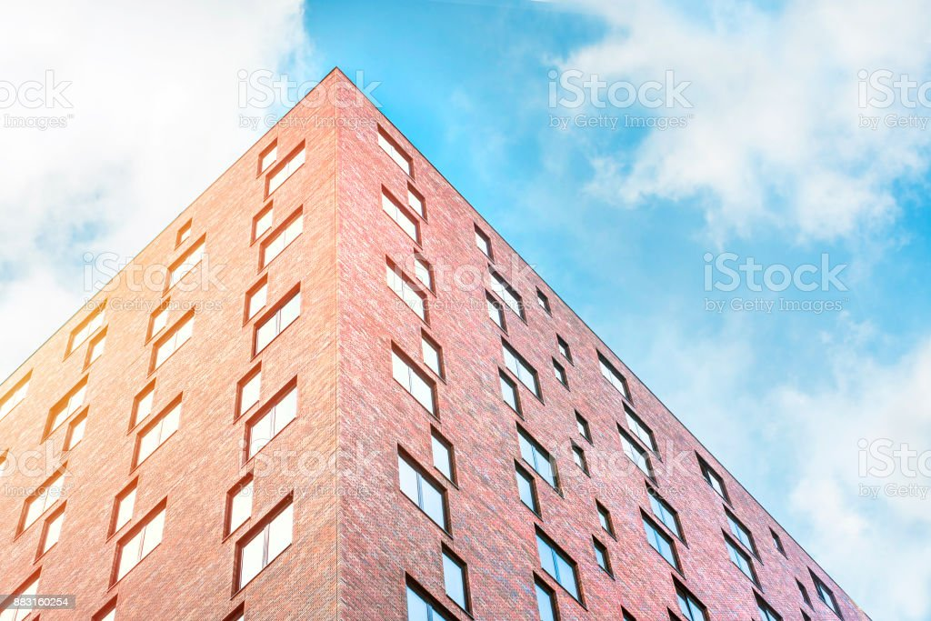 Modern architecture in new city in Netherlands. stock photo