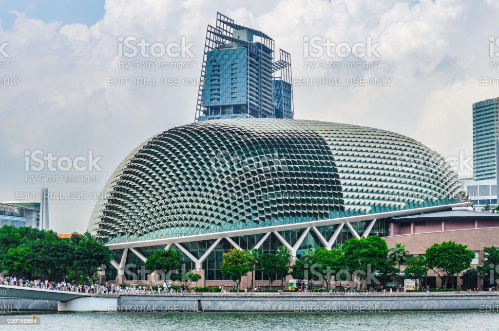 Modern architecture in Singapore - The Esplanade stock photo